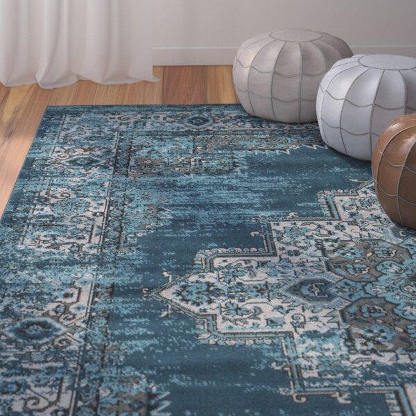 Hemel Blue/Teal Area Rug by Bungalow Rose