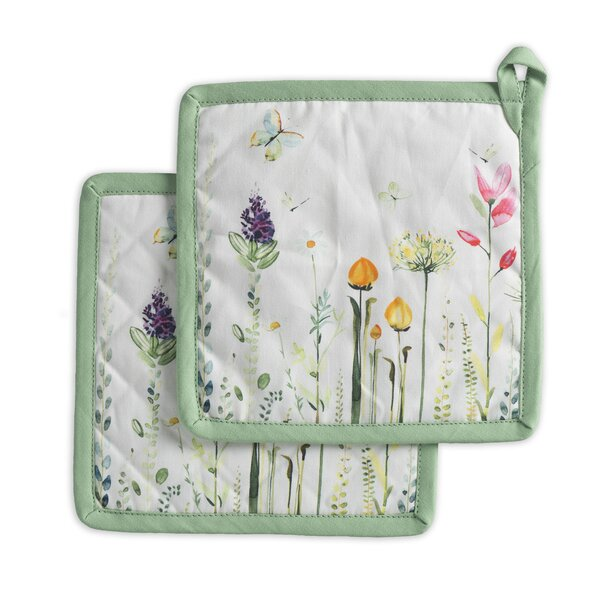 Botanical Fresh Potholder (Set of 2) by Maison d' Hermine