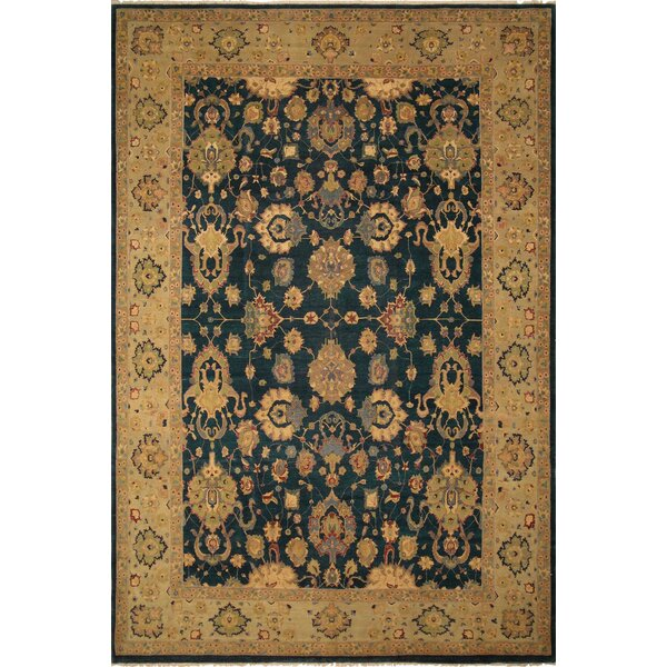 One-of-a-Kind Broadbent Turkish Hand Knotted Wool Green/Beige Area Rug