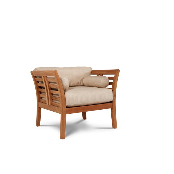 Fleischer Teak Patio Chair with Sunbrella Cushion by Bloomsbury Market