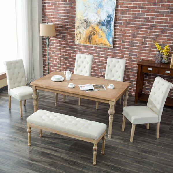 Kenleigh 6 Piece Dining Set by Bungalow Rose