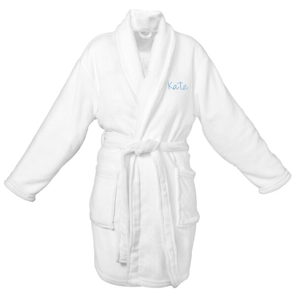 Personalized Fleece Plush Bathrobe by Cathys Conce