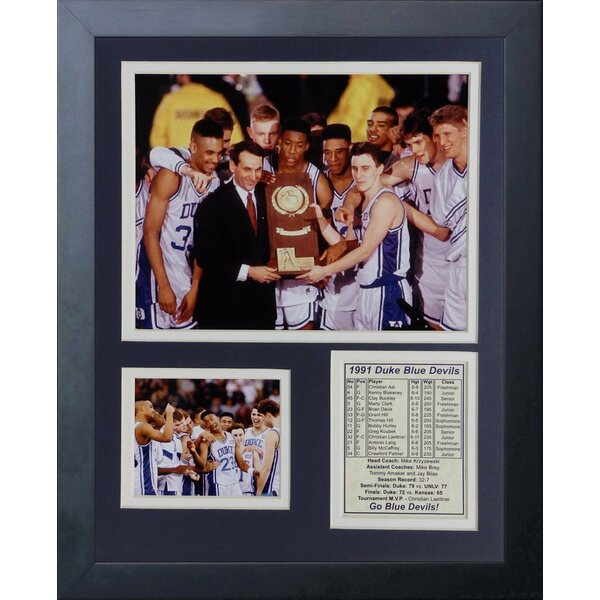 Duke University Blue Devils 1991 National Champions Framed Memorabilia by Legends Never Die