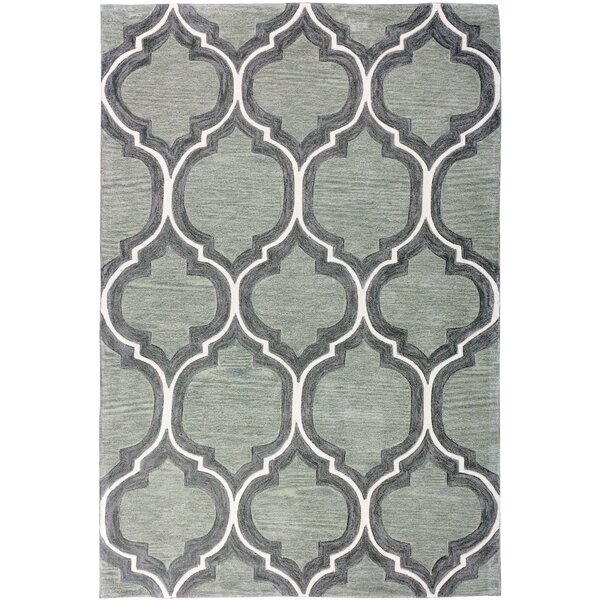 Expressions Wallaby Lattice Tea Green Area Rug by Well Woven