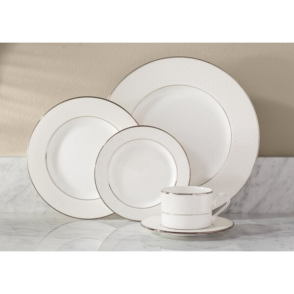 Venetian Lace Bone China 5 Piece Place Setting, Service for 1 by Lenox