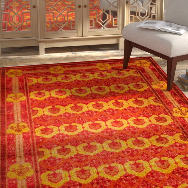 One-of-a-Kind Domestico Hand-Knotted Red Area Rug by Bloomsbury Market