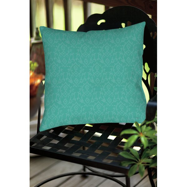 Flowing Damask Indoor/Outdoor Throw Pillow by Manual Woodworkers & Weavers