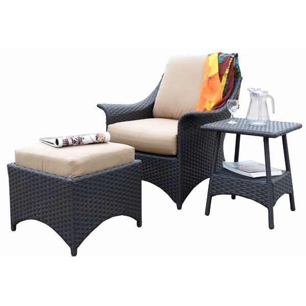 Alyssa Relaxing Patio Chair with Cushion by Alcott Hill