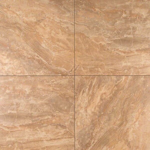 Onyx Noche 12 x 12 Porcelain Field Tile in Brown by MSI