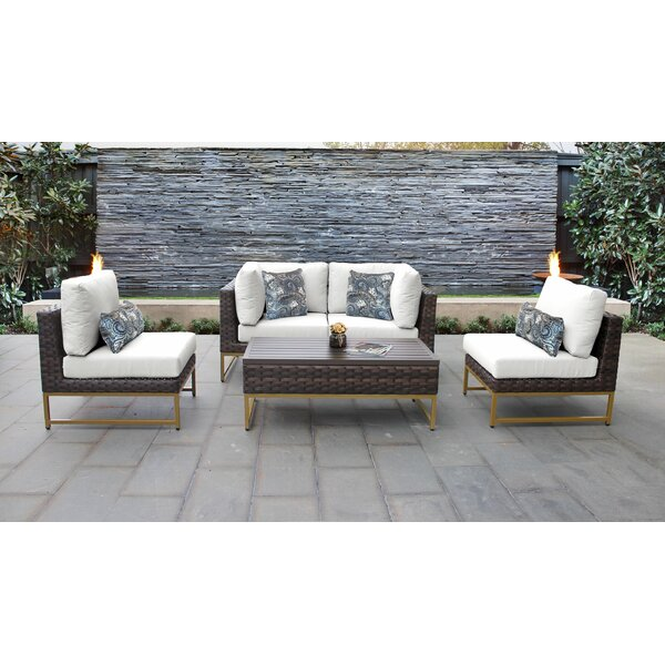 Barcelona 5 Piece Sectional Seating Group with Cushions by TK Classics