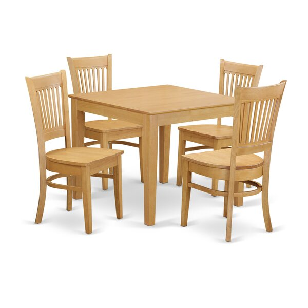 Cobleskill 5 Piece Dining Set By Alcott Hill Comparison