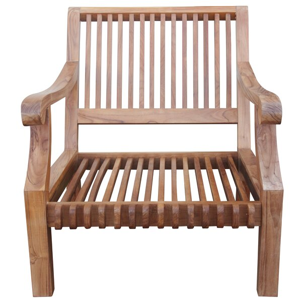 Zahra Teak Patio Chair with Cushions by Bungalow Rose