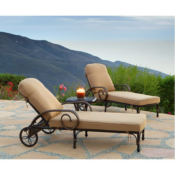 Jared 3 Piece Sunbrella Seating Group with Cushions by World Menagerie