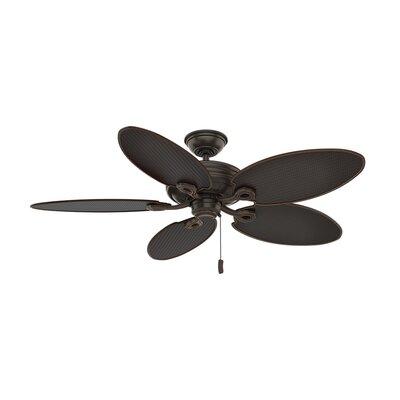 "54"" Charthouse Onyx Bengal 5 Blade Outdoor Ceiling Fan Casablanca Fan"