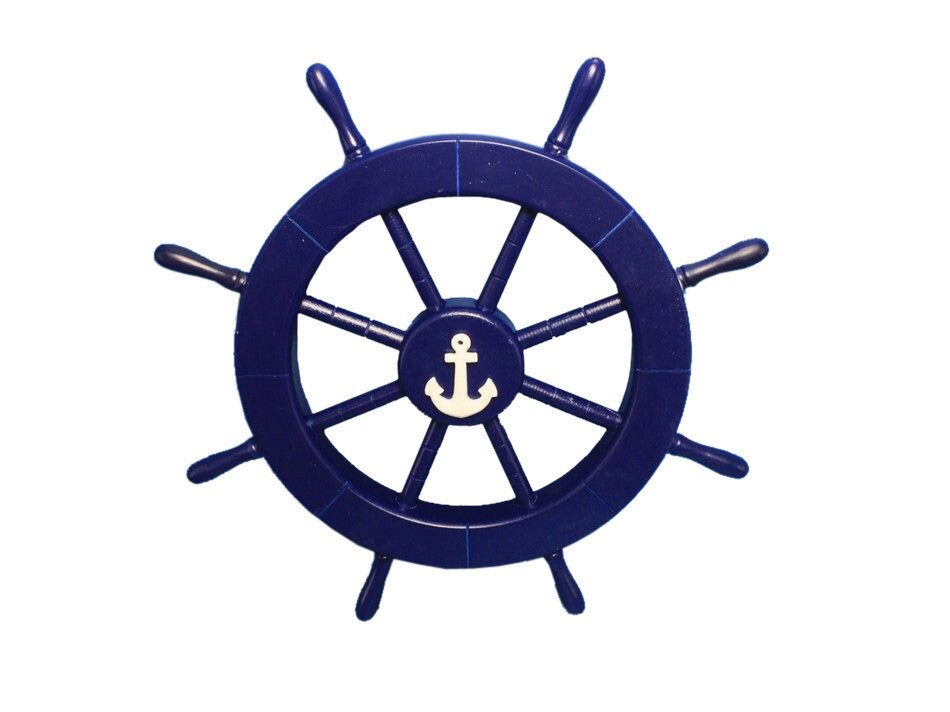 Wonderful Ship Wheel With Anchor Wall Decor