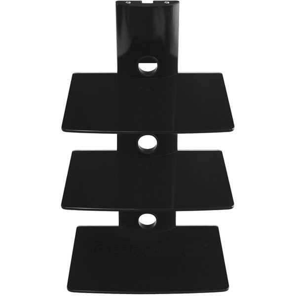TV Component Wall Mount Shelving Bracket by Cheetah Mounts