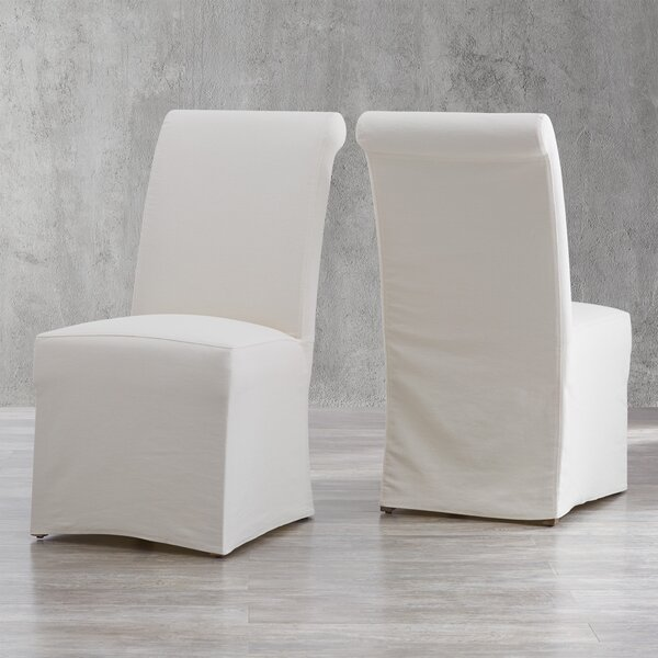 Geraldina Linen Upholstered Parsons Chair (Set Of 2) By Birch Lane™ Heritage