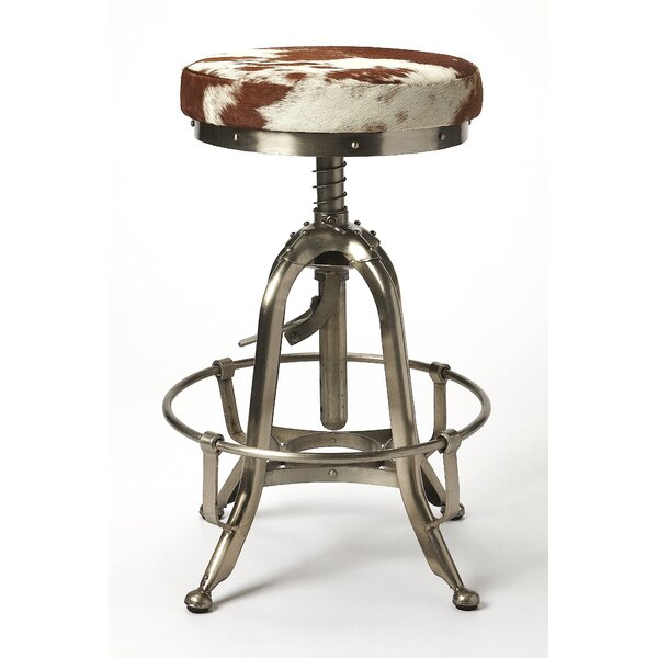 Eric Adjustable Heigh Swivel Bar Stool by 17 Stories