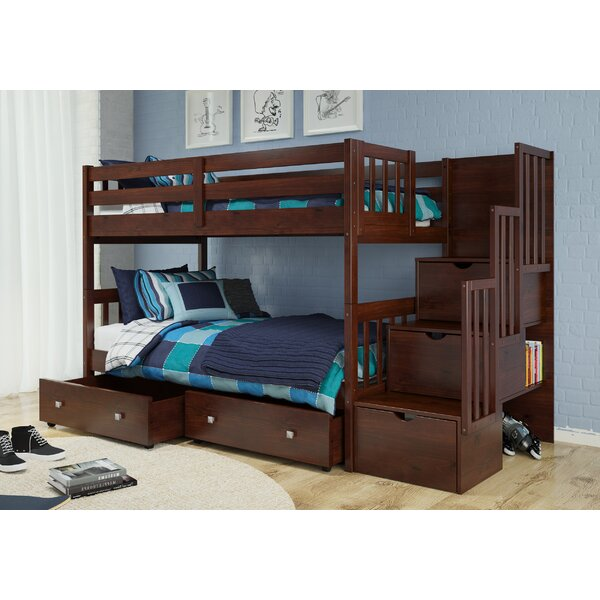 Samuelson Twin Over Twin Bunk Bed with Drawers by Harriet Bee