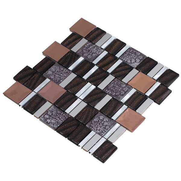 Vitray 12 x 12 Mixed Material Mosaic Tile in Brown by Mirrella