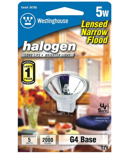 5W GU4 Dimmable Halogen Floodlight Light Bulb by Westinghouse Lighting