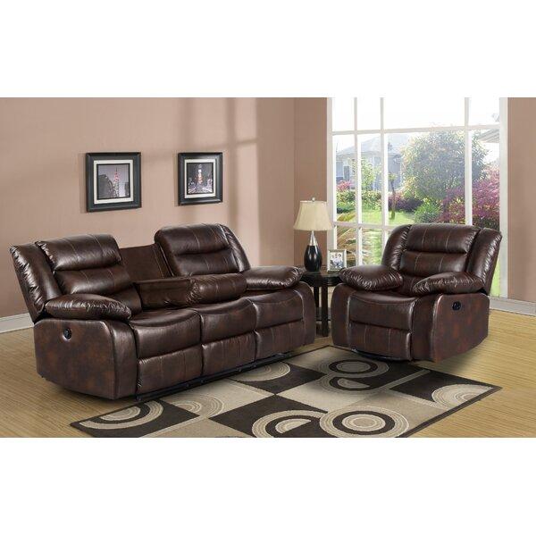 Trista 2 Piece Reclining Living Room Set