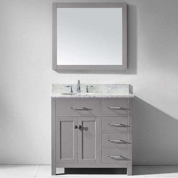 Savitsky 36 Single Bathroom Vanity Set with Mirror by Latitude RunSavitsky 36 Single Bathroom Vanity Set with Mirror by Latitude Run