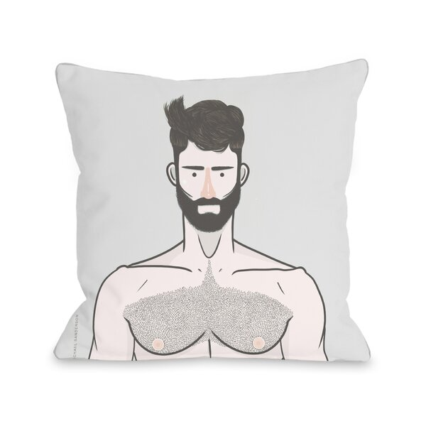 Shirtless Throw Pillow by One Bella Casa