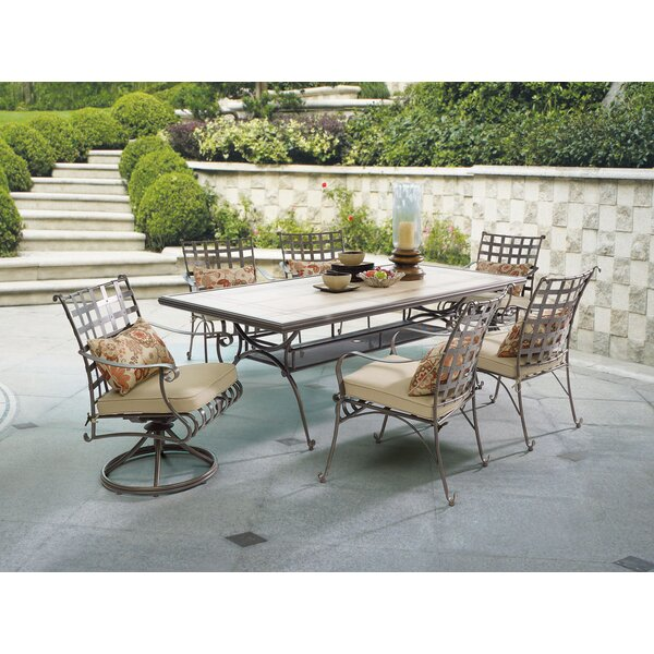 Antoine Stone/Concrete Dining Table by Winston Porter