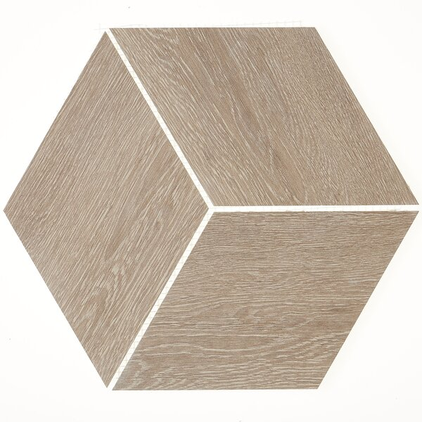 11.5 x 11.5 Porcelain Wood Look Tile in Butter Pecan by Itona Tile