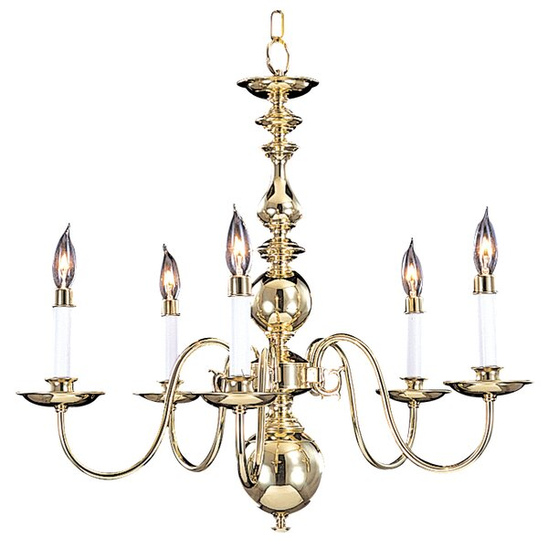 Jovan 5-Light Candle Style Classic / Traditional Chandelier By Darby Home Co