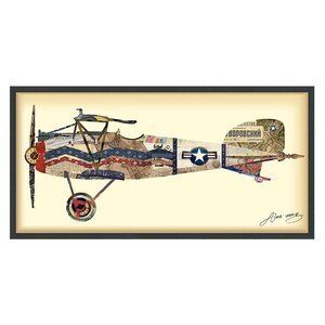 'Antique Biplane #3' Framed Graphic Art Print by Latitude Run