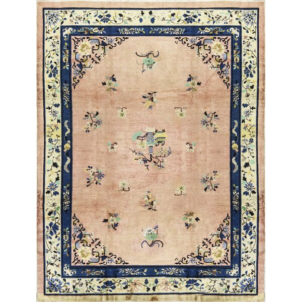 One-of-a-Kind Hand-Knotted Wool Beige/Blue Indoor Area Rug by Bokara Rug Co., Inc.