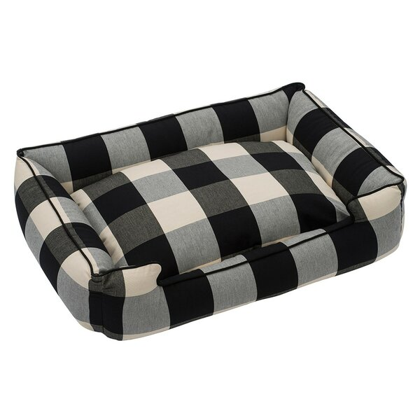 Buffalo Check Premium Cotton Blend Lounge Bolster Bed by Jax & Bones