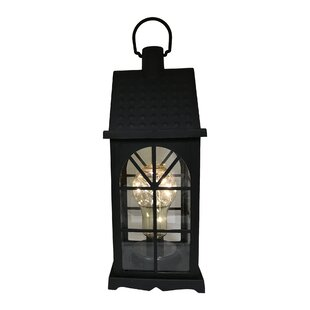 Clearance Maryam Battery-Operated 1 Light LED Outdoor Hanging Lantern By Charlton Home
