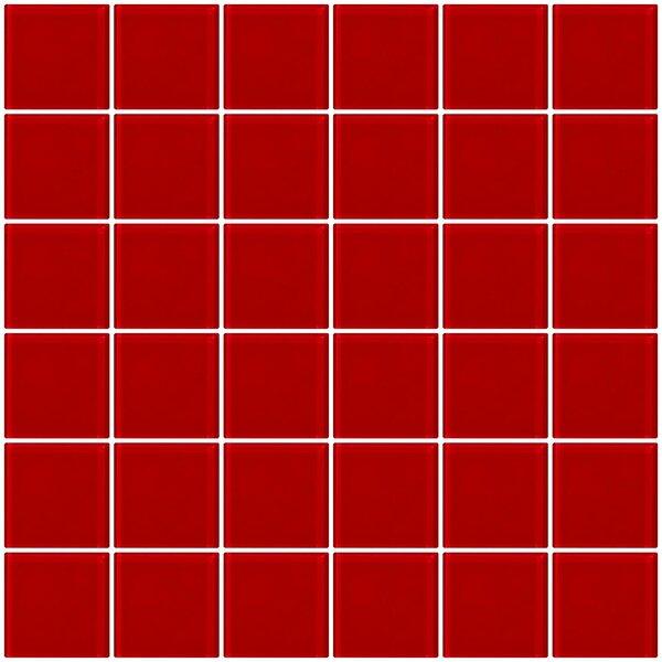 Bijou 22 2 x 2 Glass Mosaic Tile in Red by Susan Jablon