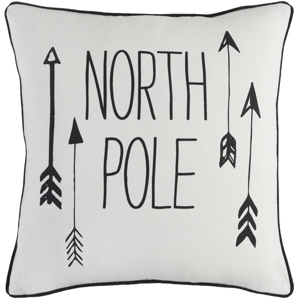 Holiday North Pole Cotton Throw Pillow Cover by The Holiday Aisle
