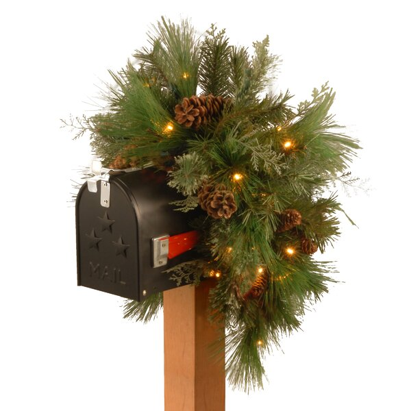 Pre-Lit Pine Mailbox Swag by National Tree Co.