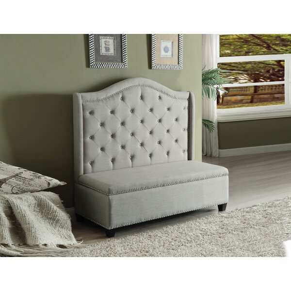 Best #1 Alida Settee With Storage By Charlton Home Coupon