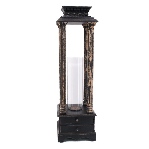 Large Wooden Hurricane Lantern by Darby Home Co