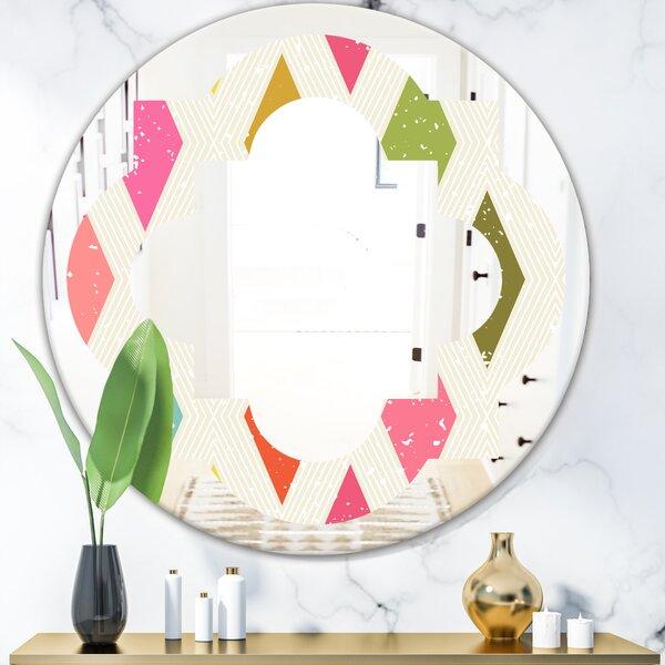 Quatrefoil Diamond III Eclectic Frameless Wall Mirror