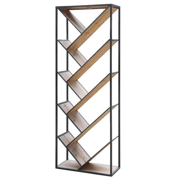 James Angled Etagere Bookcase by 17 Stories