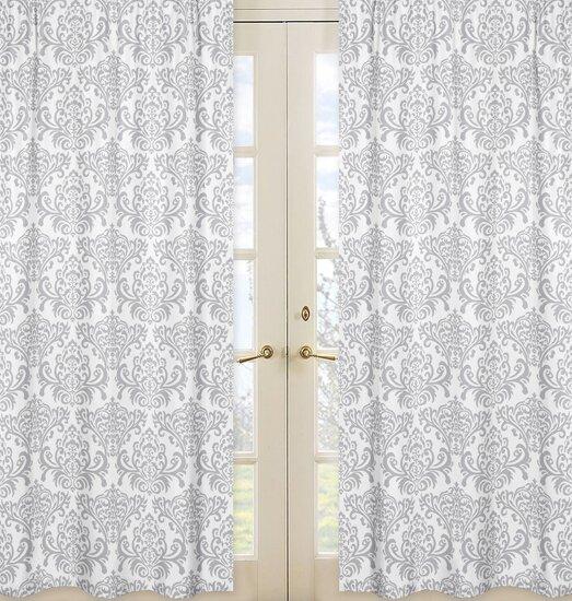 Elizabeth Damask Semi-Sheer Rod Pocket Curtain Panels (Set of 2) by Sweet Jojo Designs