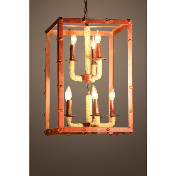 Litteral 8-Light Candle Style Rectangle / Square Chandelier by Breakwater Bay Breakwater Bay