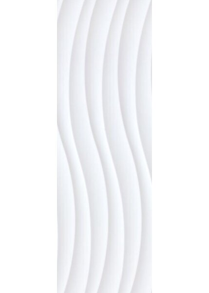Festiva London Bianco 3D 12 x 36 Ceramic Wall Tile in Glossy White by Bella Via
