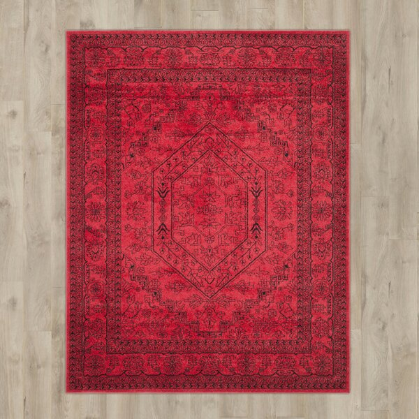 Ebenezer Red/Black Area Rug by Willa Arlo Interiors