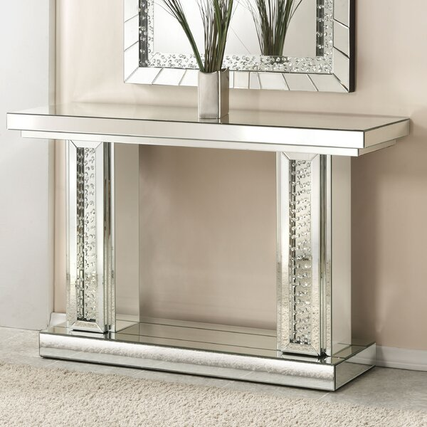 Bladwell Rectangle Mirrored Console Table by Rosdorf Park