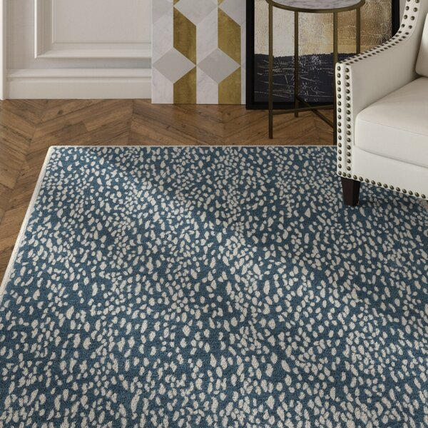 Ankit Hand Tufted Blue Area Rug by Everly Quinn