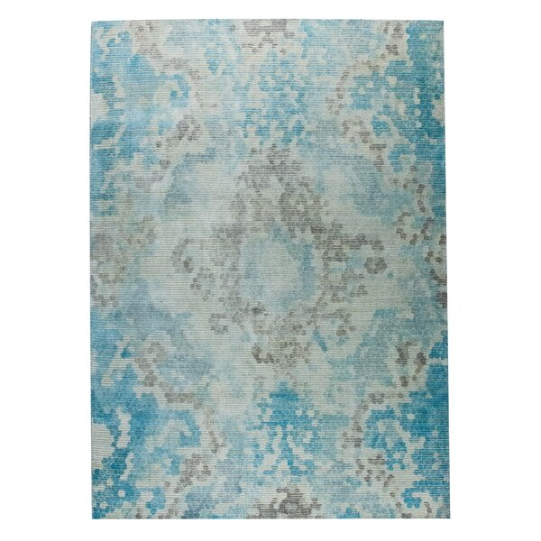 Omaha Hand-Woven Blue/Beige Area Rug by M.A. Trading