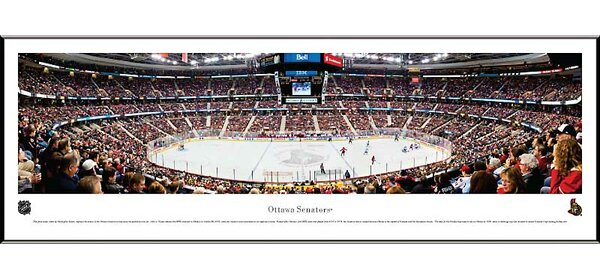 NHL Center Ice Standard Framed Photographic Print by Blakeway Worldwide Panoramas, Inc